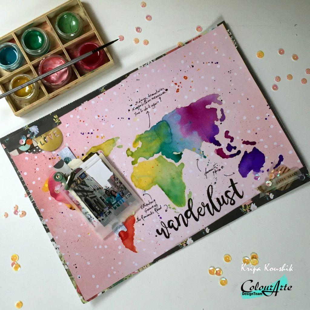 Scrapbook ideas rainbow - Rainbow Scrapbook Layout Using Twinks