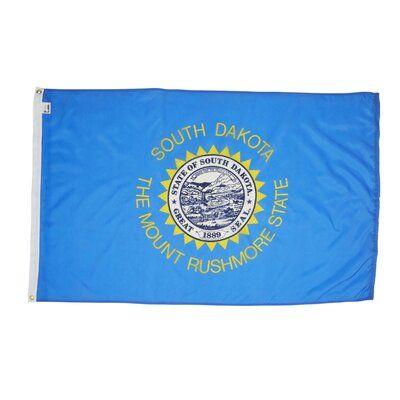 3x5 North Dakota Flag 3/'x5/' House Banner grommets super polyester