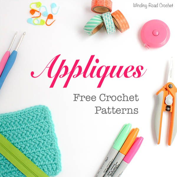 Dress up any project with a beautiful crochet appliqué. Here is a collection of free appliqué crochet patterns to add to detail to any project.