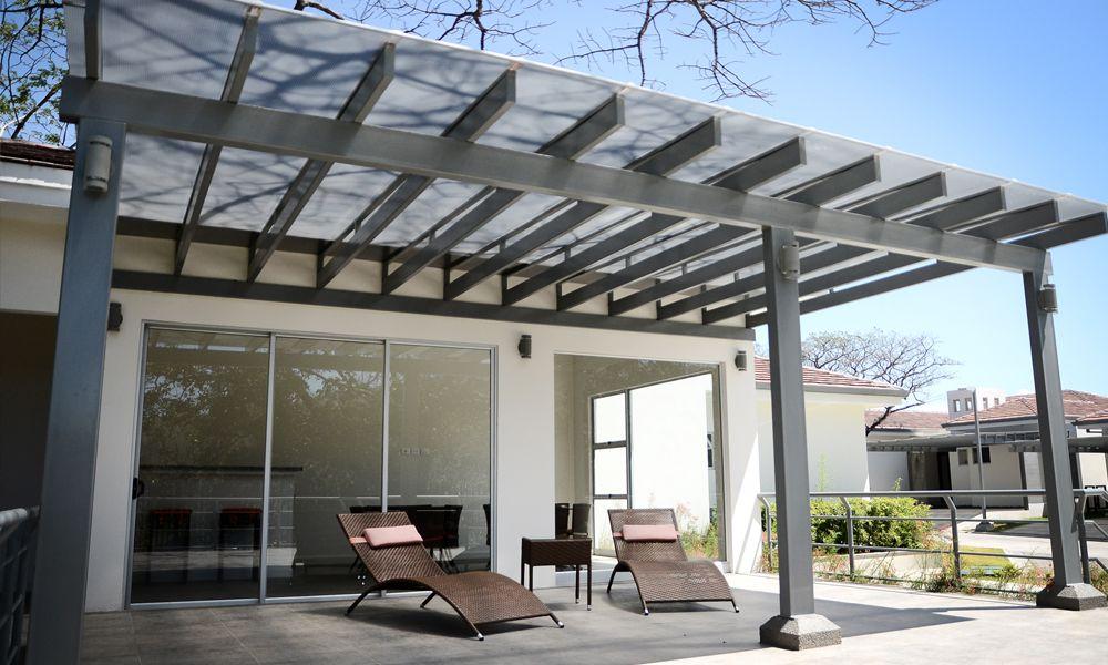 Resultado de imagen para terraza con techo transparente - Techos para terrazas ...