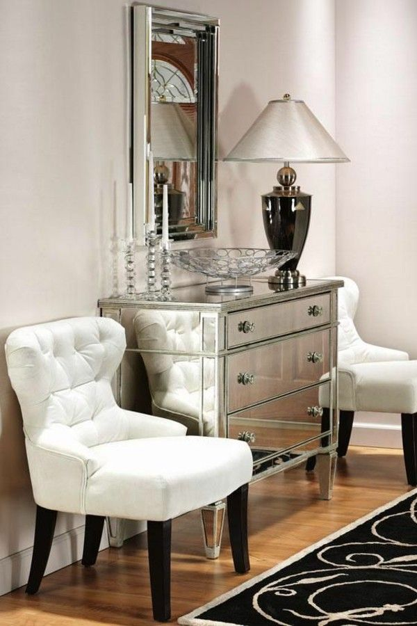 45 Interior Design Ideas For Chest Of Drawers With Mirror Mirrored Furniture Furniture Living Room Chairs