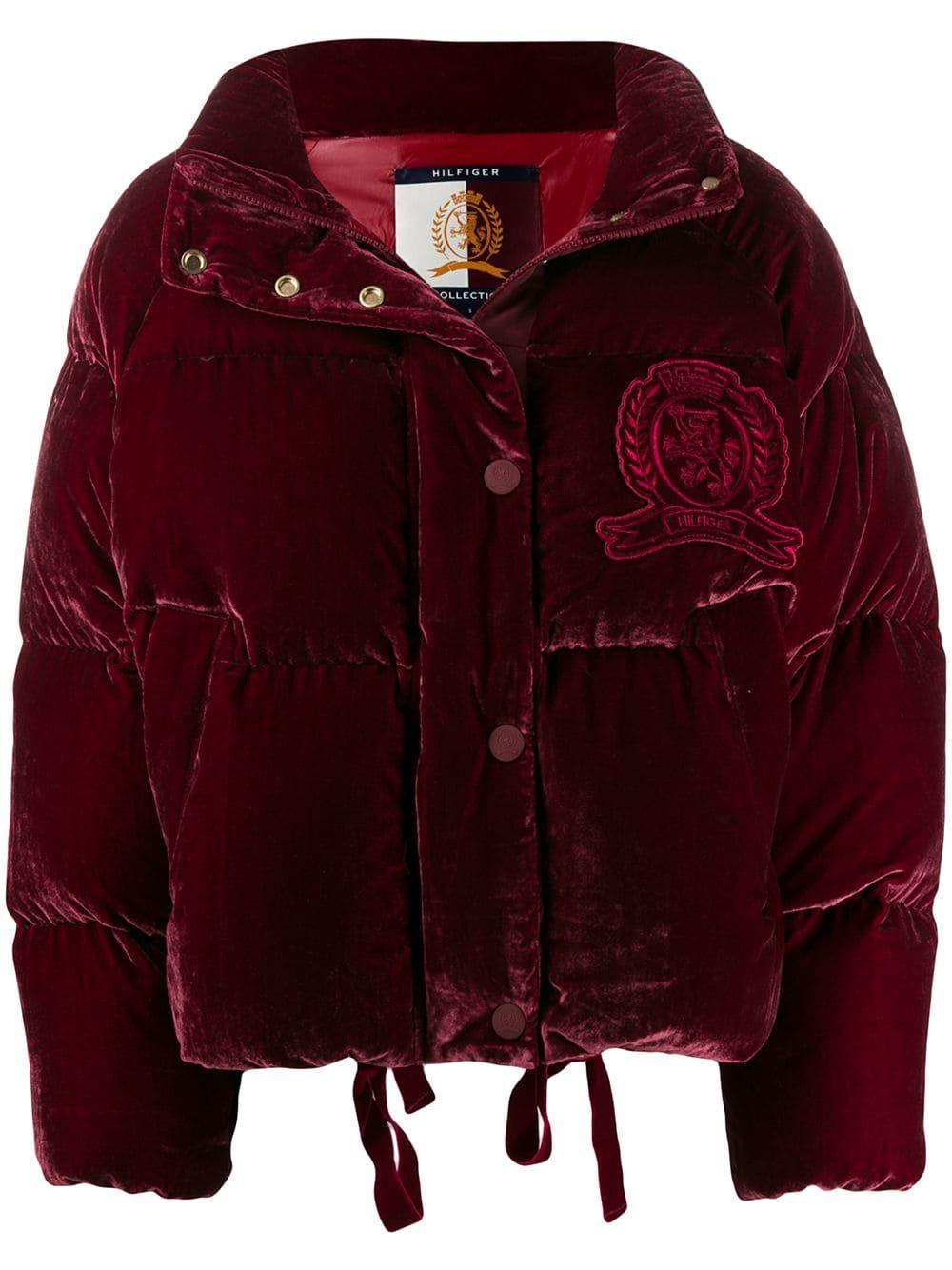 Hilfiger Collection Velvet Puffer Jacket Farfetch Womens Jumpsuits Casual Jackets Puffer Jackets [ 1334 x 1000 Pixel ]