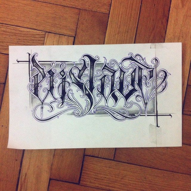 Enslave. #wlk #calligraphy #calligritype #chicano #tattoo