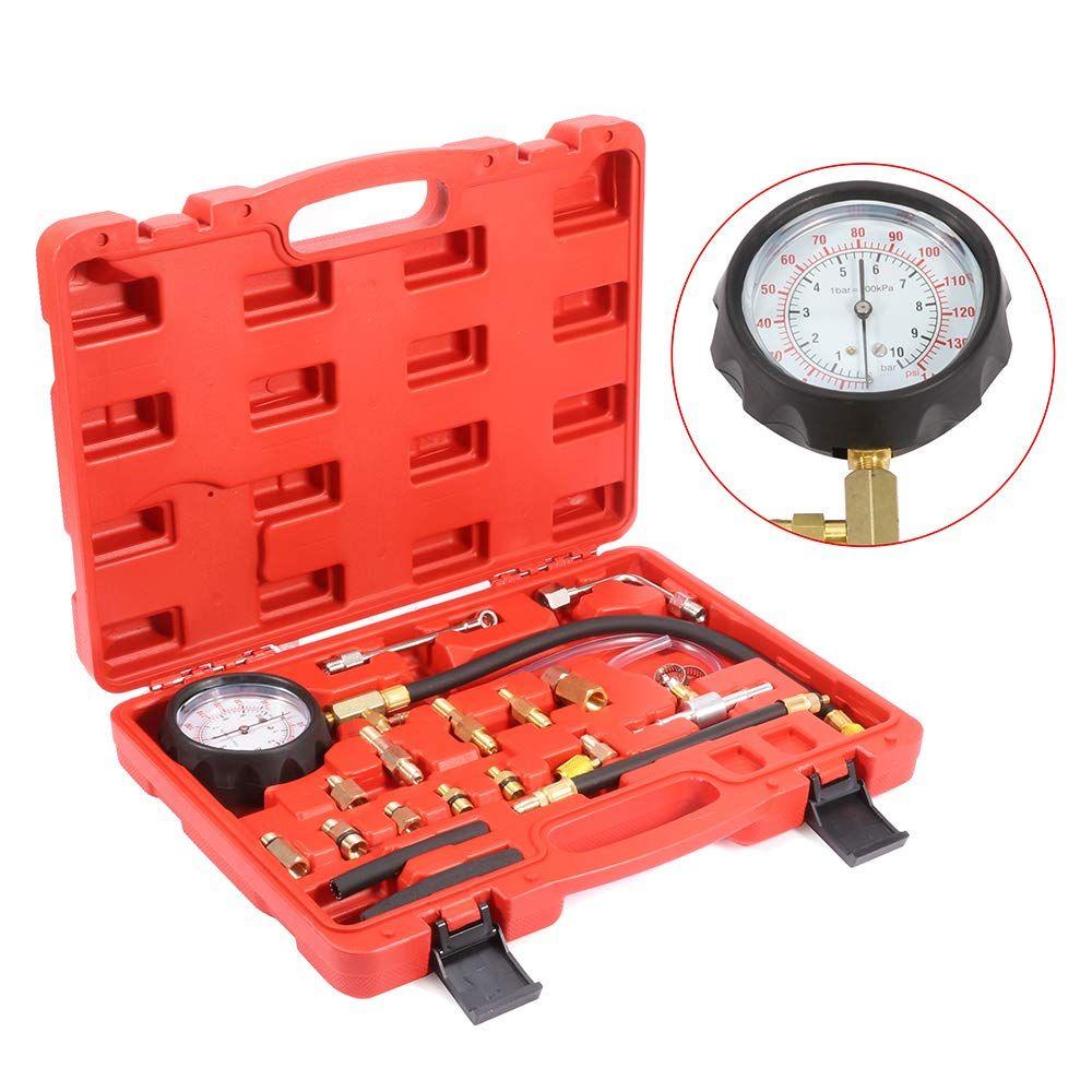 0-140PSI Fuel Injection Pump Pressure Tester Test Pressure Gauge Kit