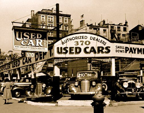 Used Car Dealership Back In The Old Days With Images Used