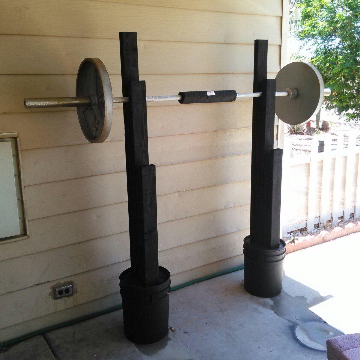 How to build a squat rack Diy home gym, Squat rack diy