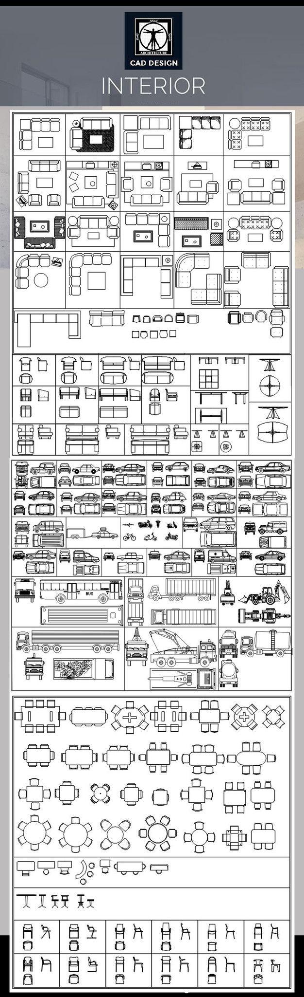 All Interior Design Blocks 4 U2013 CAD Design   Free CAD Blocks,Drawings,Details