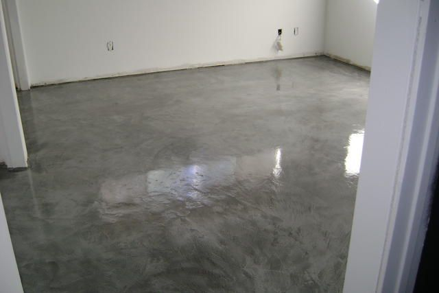 Modern concrete floor finish in bedroom in camarillo ca for Concrete floor finishes