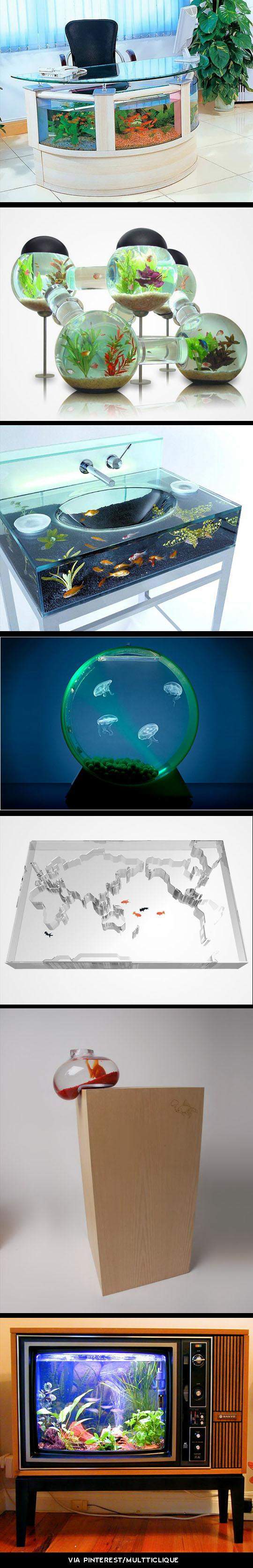 aquarium design pinterest fische haustiere und ausgefallene wohnideen. Black Bedroom Furniture Sets. Home Design Ideas