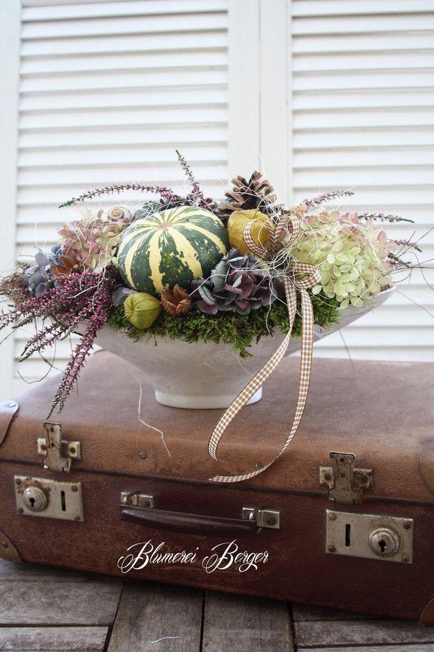 Herbstliche gesteck #herbsttischdekorationen