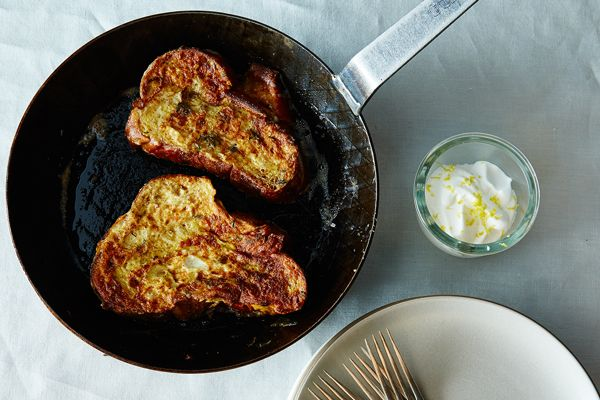 Herb French Toast with Lemon Whipped Cream