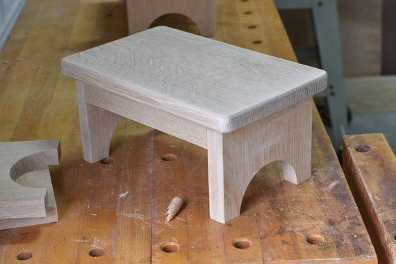 Single Step Stool Small Or Child Wooden Bedside
