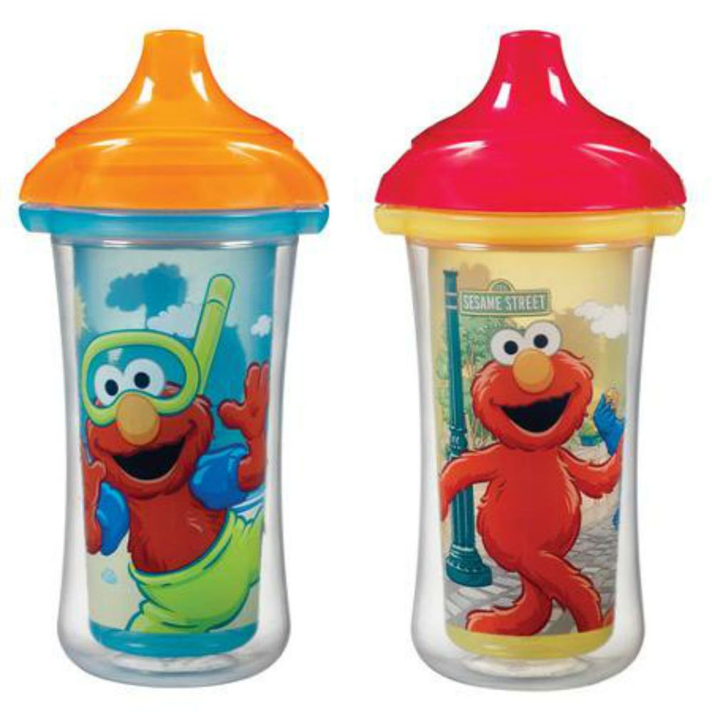 New Munchkin 2 Count Sesame Street Click Lock Insulated Sippy Cup 9 Ounce Munchkin Sesame Street Sippy Cup Sippy