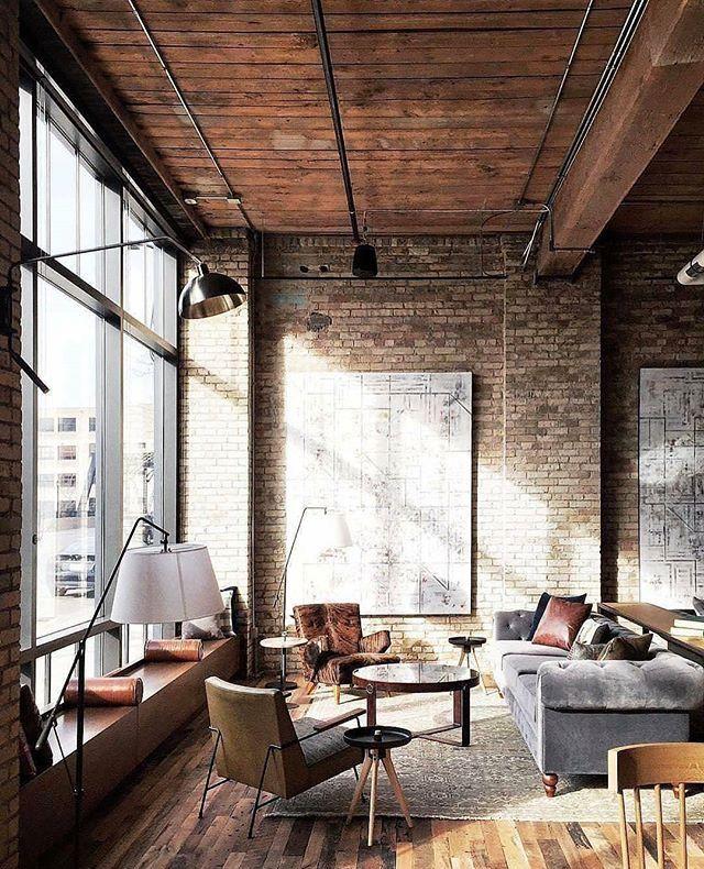 Einfache Dekoration Und Mobel Wohnen Im Loftstil #18: Holz Innenarchitektur, Long Island Ny, Industrie Stil Inneneinrichtung,  Einfache Dinge, Wohnungen, Studio