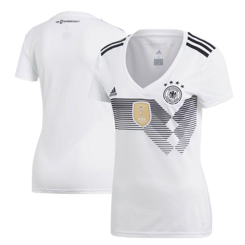 Germany National Team adidas Women s 2018 Home Replica Blank Jersey – White 6bfdb8f3c4