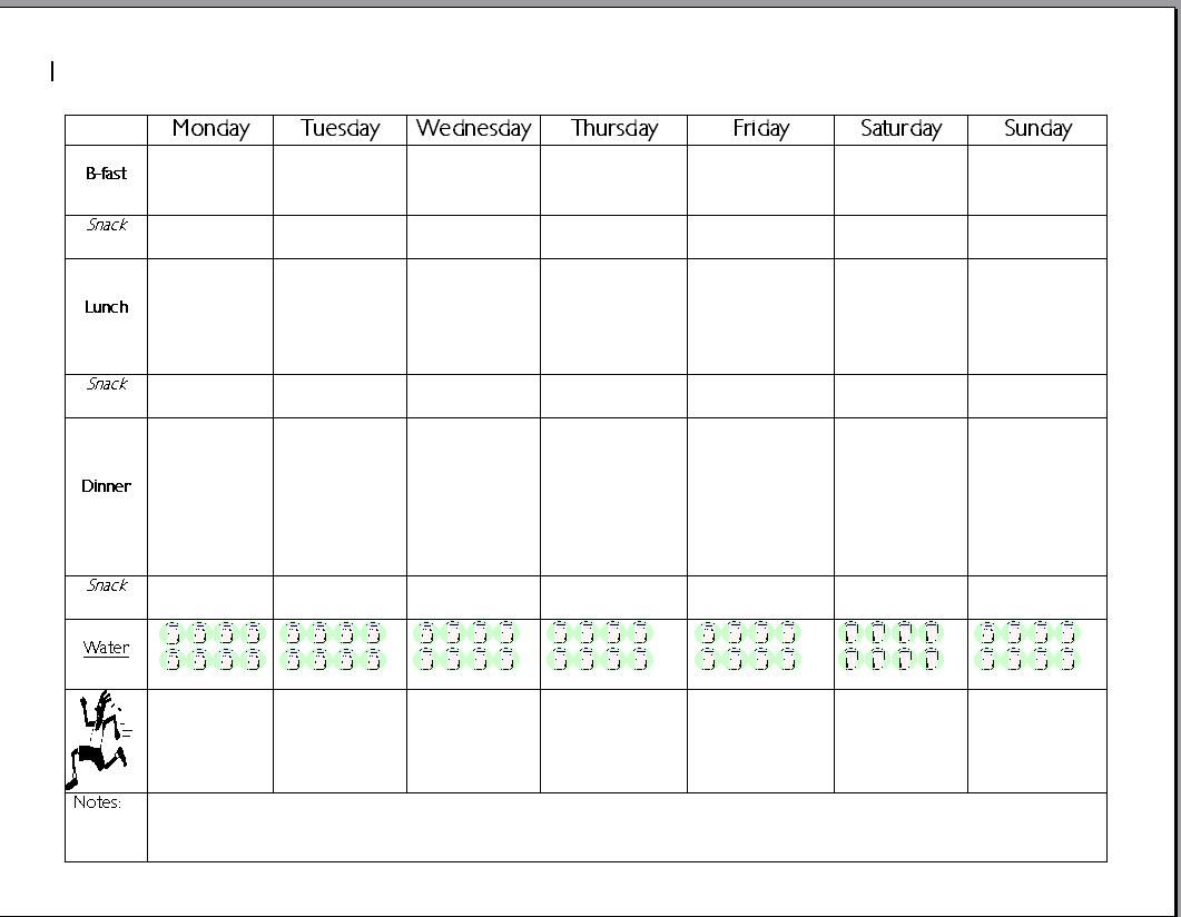 7-Day Meal Planner Template   Meal plan charts Forbidden   Food ...