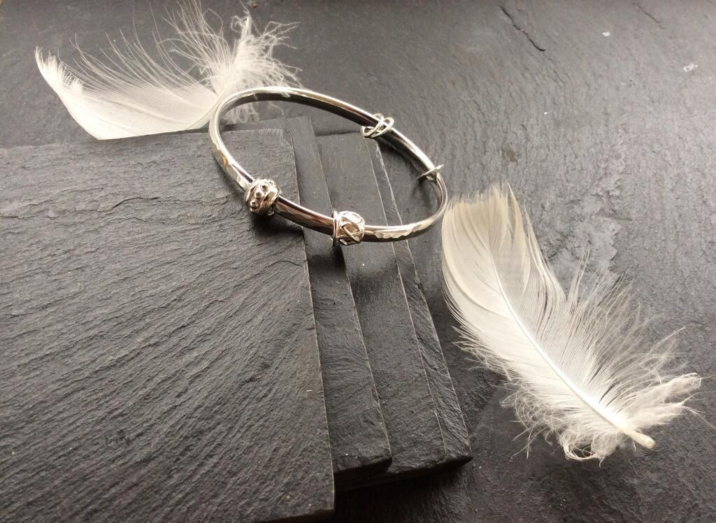 Sterling SIlver Bangle - part of the JayneRoth Bangle Collection over at :https://www.facebook.com/Agnes.d.r.Jewellery/app_2231777543