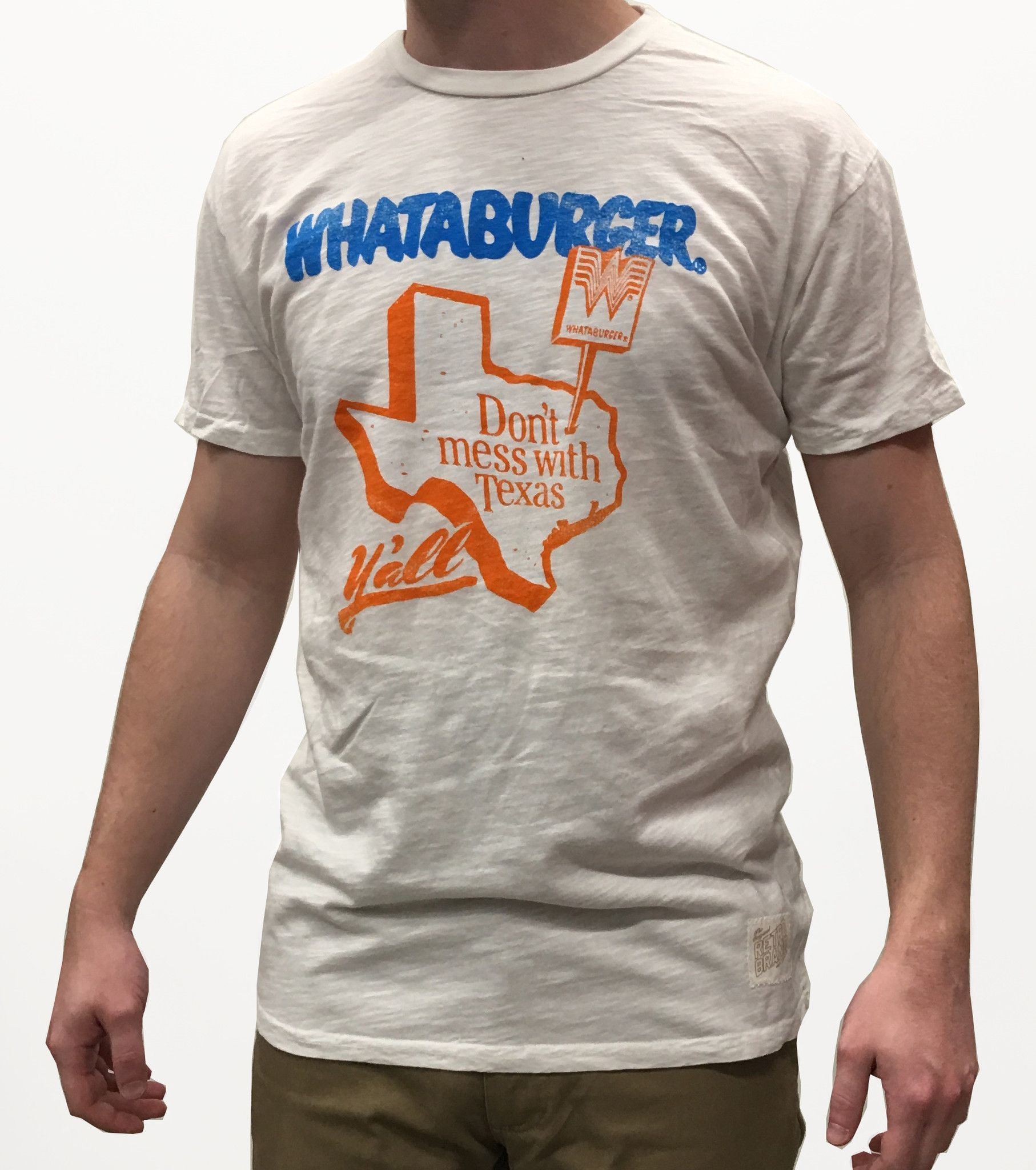 c4165f86ef1 Whataburger Don t Mess with Texas Retro Brand Tee