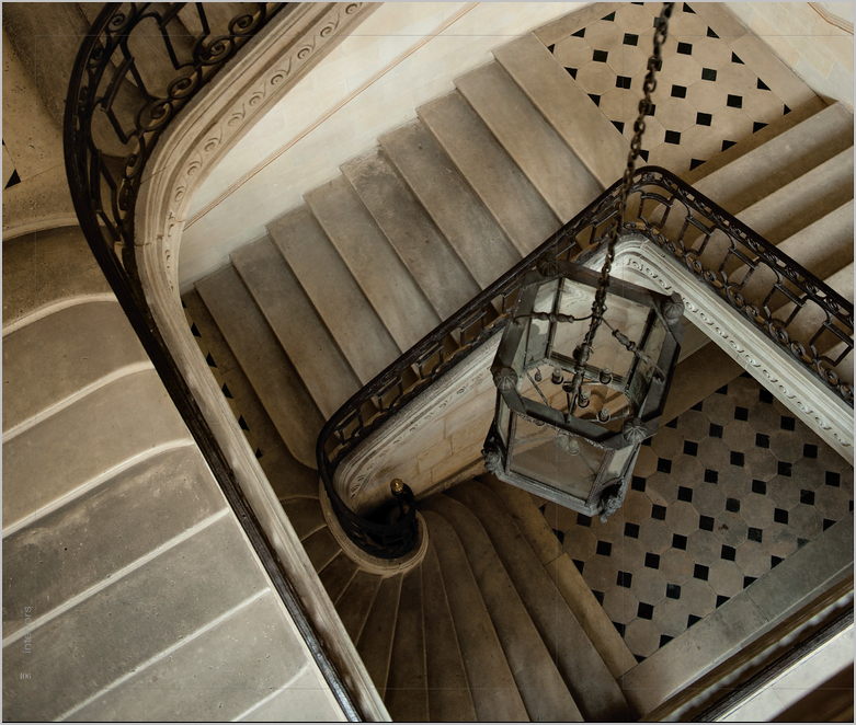 Staircase, black and white, stone, classic