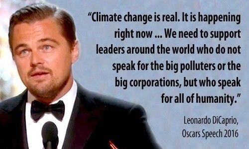Leonardo Dicaprio Devotes Oscars Speech To Climate Change Oscar Speech Climate Change Leonardo Dicaprio