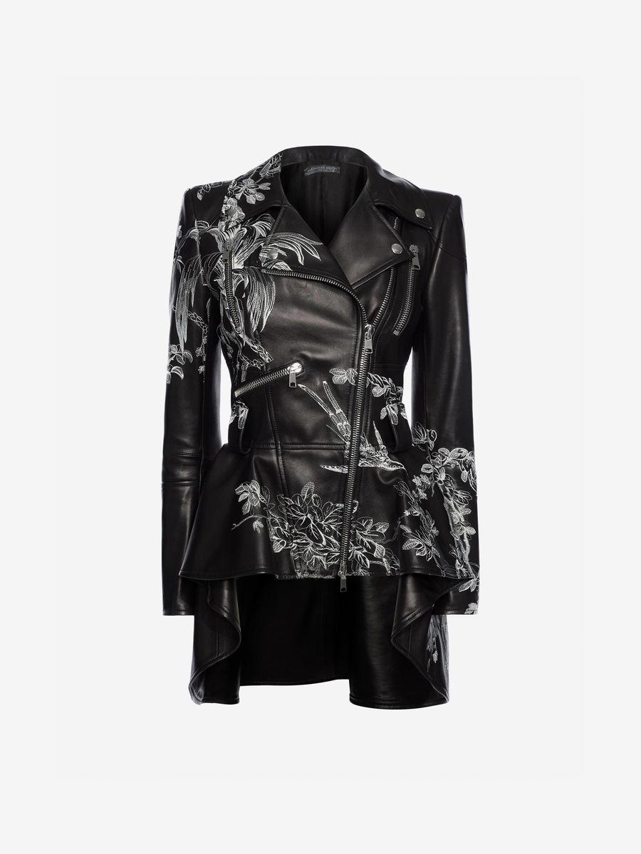 ALEXANDER MCQUEEN Leather Biker Jacket Jacket Woman | WANT