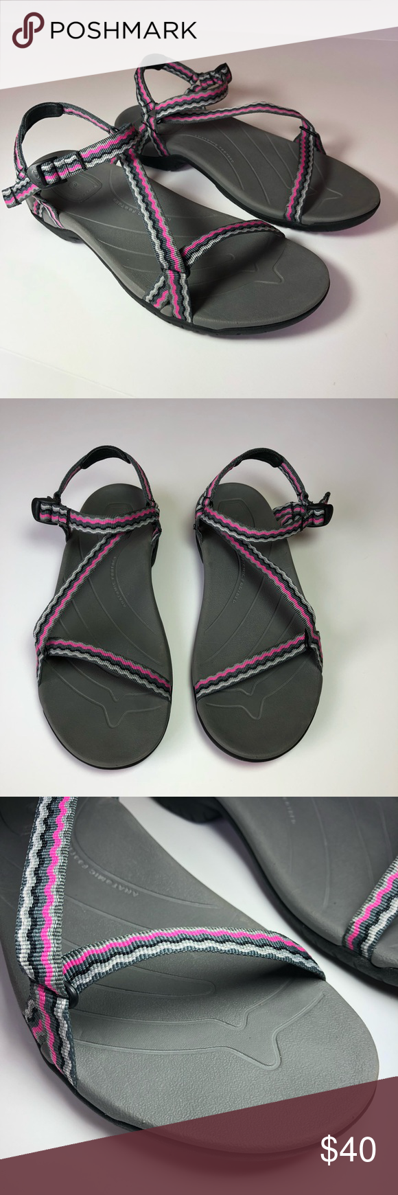 fdd836d3488d1 TEVA Anatomic Footbed Thin Strap Hiking Sandals In incredible condition.  Perfect for spring and summer