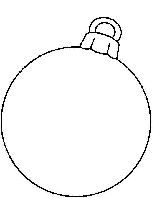 Christmas blank ornament clip art