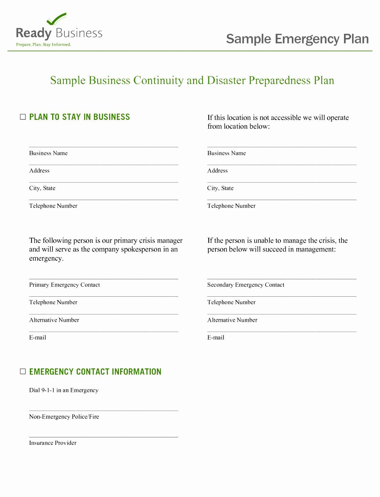 Family Disaster Plan Template Beautiful 5 Flood Emergency