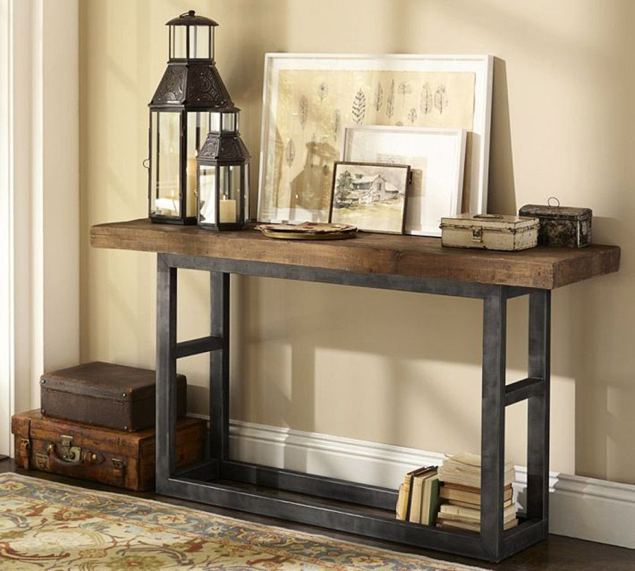 Pottery Barn Coffee Table Canada: Hierro Y Madera Reciclada.
