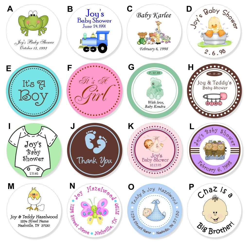 24 round baby food jar lid personalized shower label d baby shower
