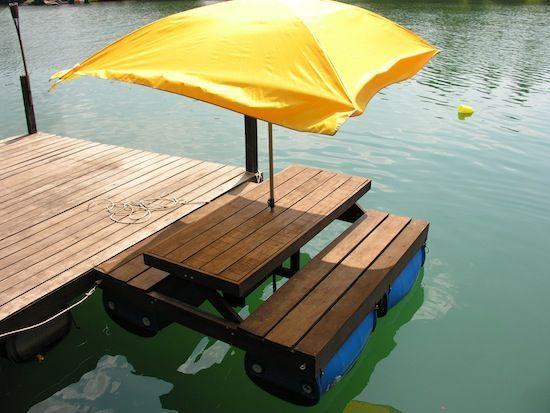 Pontoon Picnic Table Google Search Lake Cottage Lakefront Living Lake House
