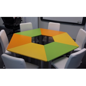 Tavoli Modulari Trapezio Per La Scuola Tavoli