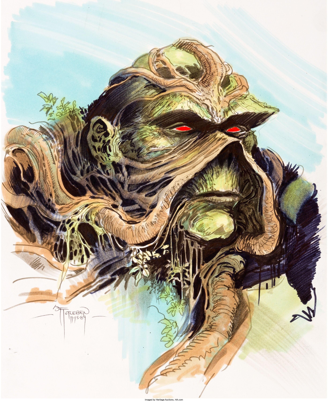 John Totleben Swamp Thing Illustration Original Art (1984 ...