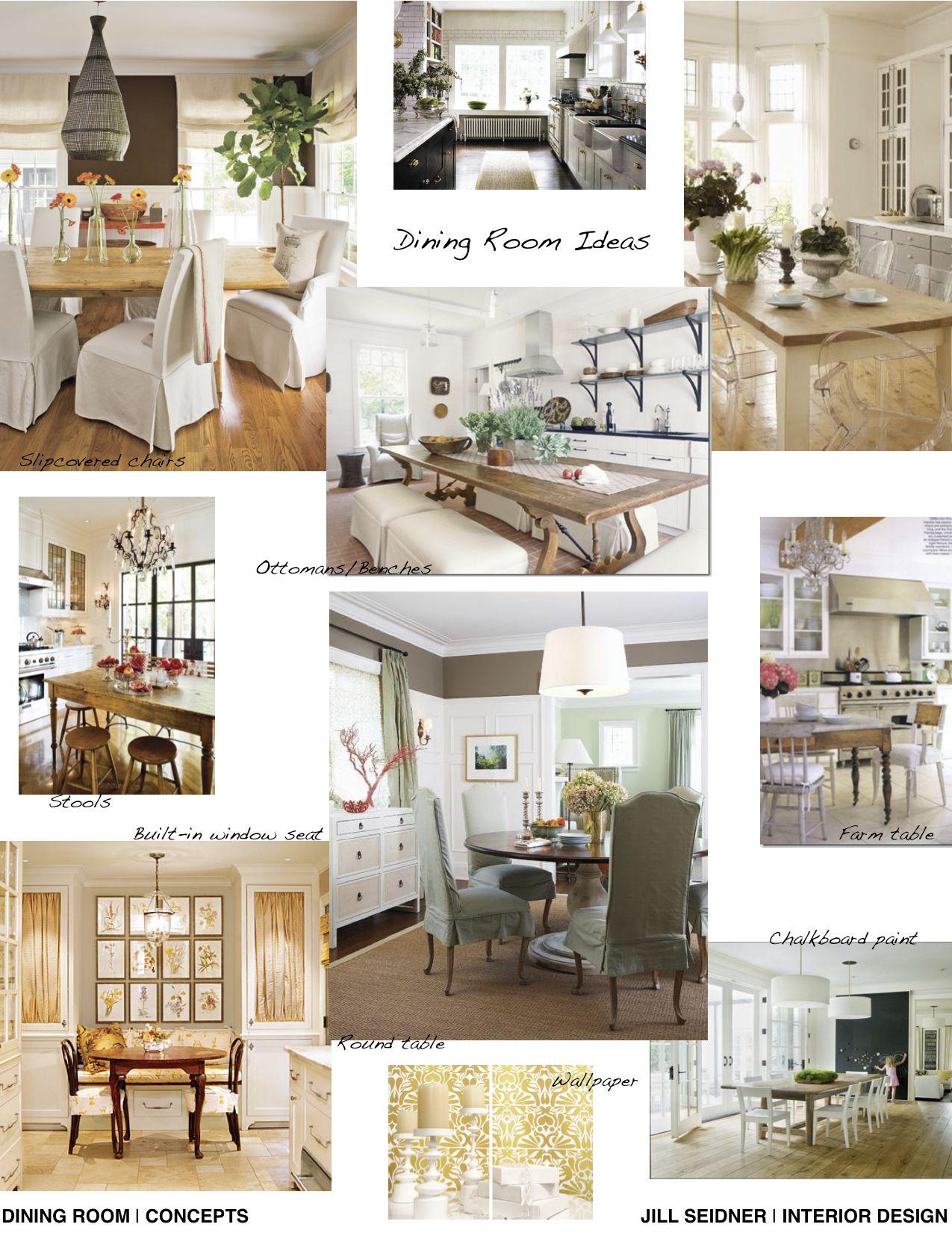 concept board for dining room. | jill seidner interior design