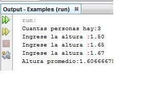 Se ingresan un conjunto de n alturas de personas por teclado. Mostrar la altura promedio de las personas. link  https://mega.co.nz/#!bghQUDTJ!ow32oLuHxlV3ATMq9fu0Vk_m339fCDDF8Ls2IAepItU