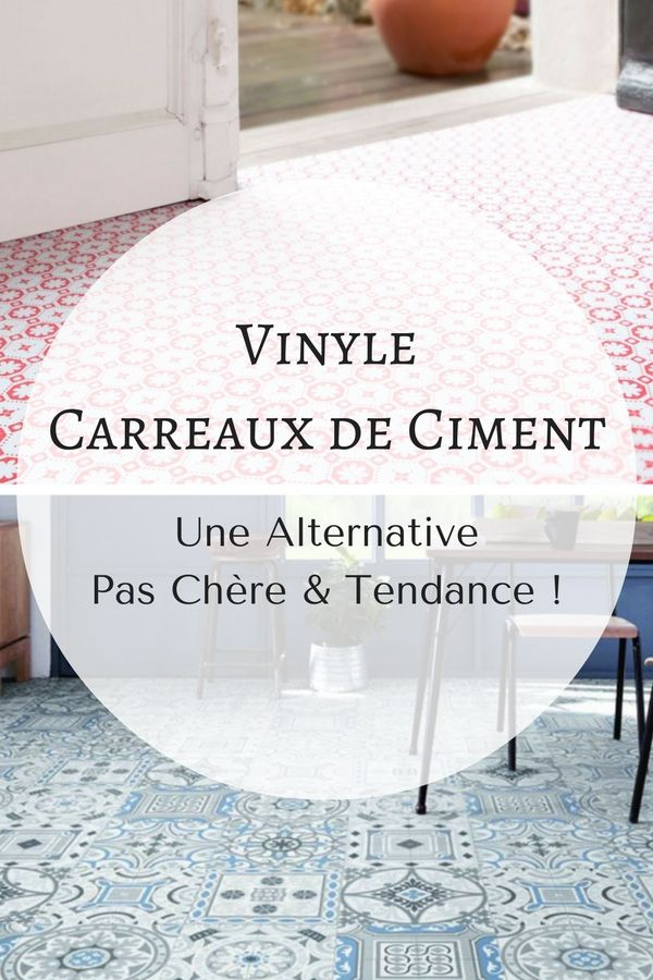 vinyle carreaux de ciment une alternative d co pas ch re vinyle carreaux de ciment deco. Black Bedroom Furniture Sets. Home Design Ideas