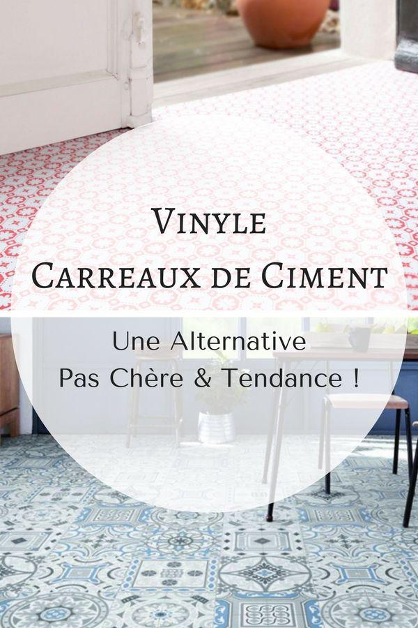Vinyle carreaux de ciment une alternative d co pas ch re Vinyle sol salle de bain