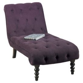Curves Chaise Lounge In Purple Chaise Lounge Chaise Tufted