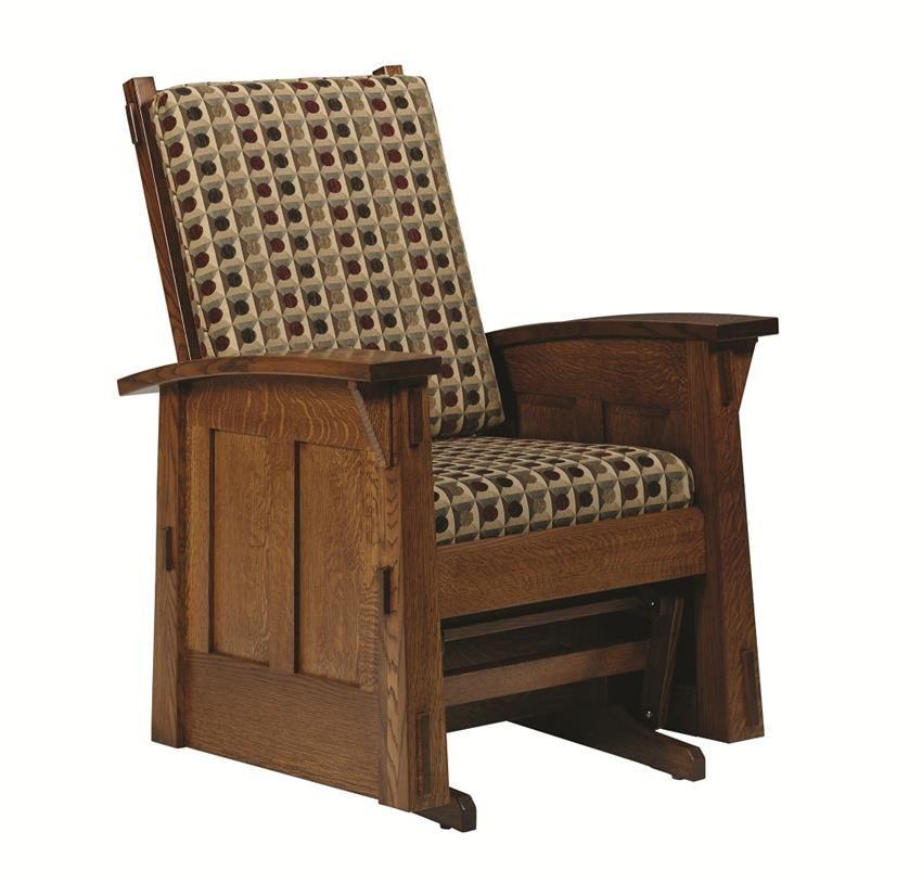 Amish Goshen Shaker Glider Rocking Chair