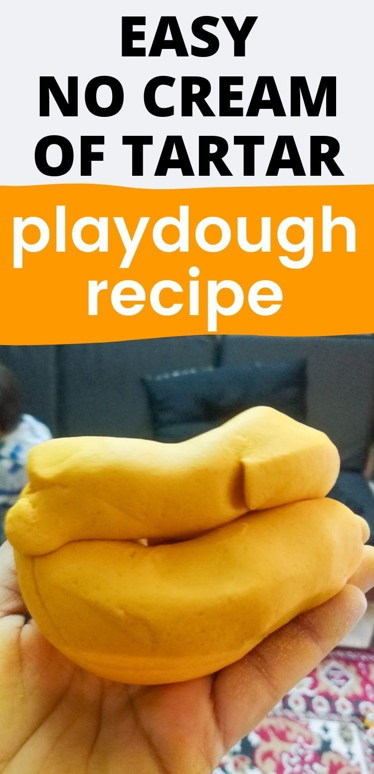 Easy Playdough Recipe Without Cream Of Tartar Or Lemon Juice Playdough Recipe Easy Playdough Recipe Cream Of Tartar