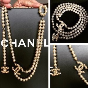 CHANEL - Chanel Gripoux Glass Pearl necklace from Leslie's closet ...