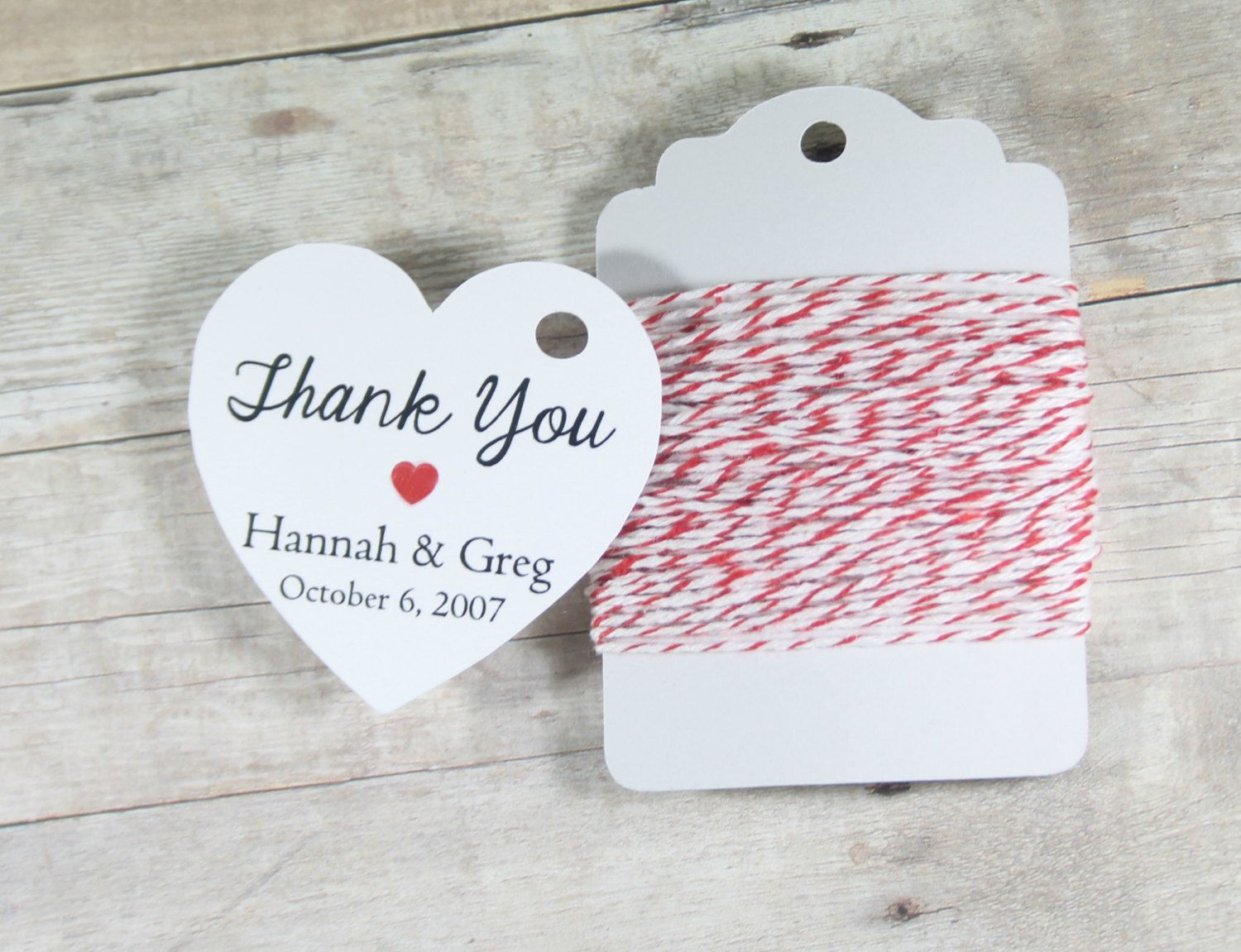 Custom Heart Tags 20pc - White Heart Tag - Bridal Shower Favor Tags ...
