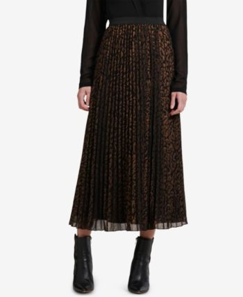 buy popular unequal in performance superior materials Dkny Pleated Midi Skirt, Created for Macy's - Black XL ...