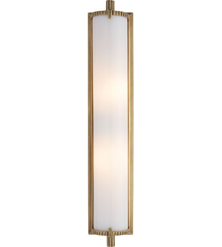 Bathroom Light Fixtures Antique Brass visual comfort tob2185hab-wg thomas obrien calliope 2 light 4 inch