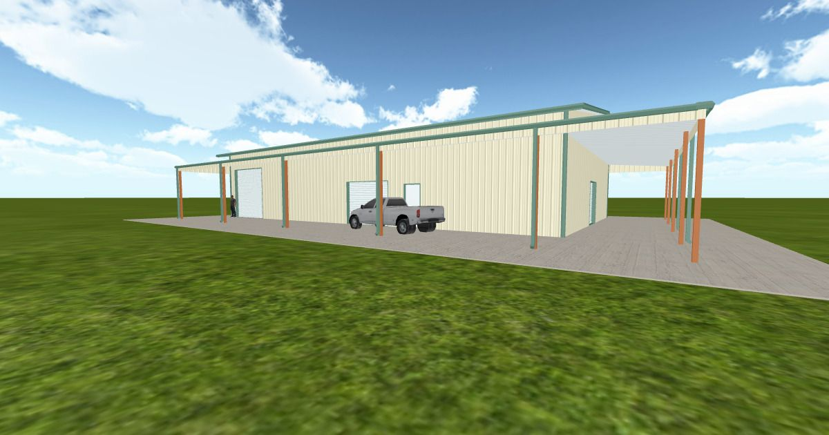 Dream #steelbuilding built using the #MuellerInc web-based 3D #design tool http://ift.tt/1LRpfZy