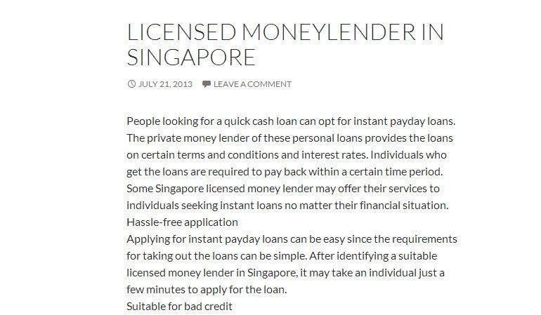 We Have Licensed Money Lenders Waiting For You Book Worth
