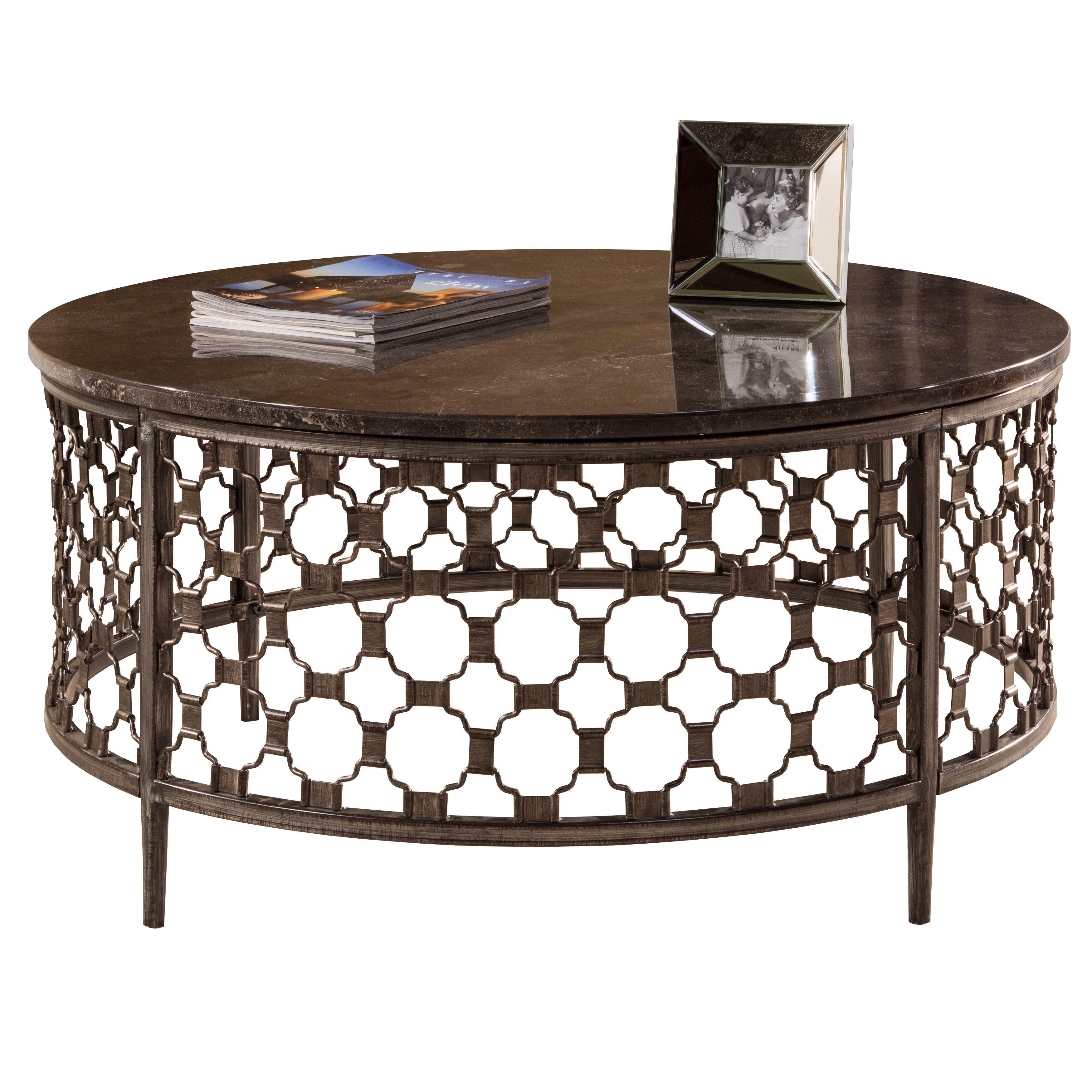 update your living room with this brescello round coffee table from rh pinterest com