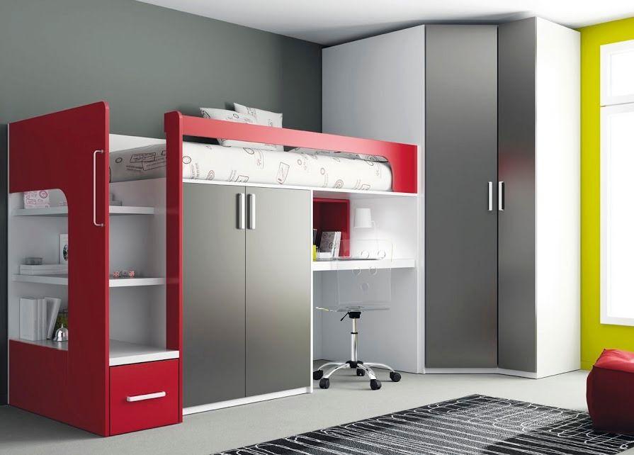 En Rojo Diy Loft Bed Tiny House Furniture Bedroom Design
