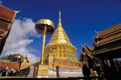 Wat Phra That Doi Suthep 10 miles outside Chaing Mai- a MUST SEE