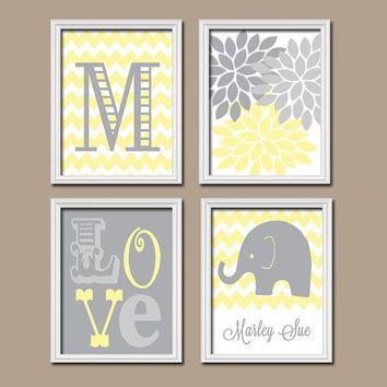 Gray And Yellow Nursery Decor Google Search
